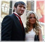 Alex Ovechkin on the red carpet at Thursday night's NHL Awards show... Who's that girl? © www.examiner.com